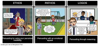 ethos pathos logos activity storyboard by kated