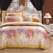 brand luxury jacquard bed linen satin pcs cotton satin bedding set font b duvet b