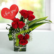 red roses love arrangement birthday gifts for boys men