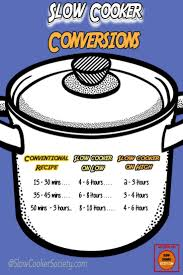 Oven Time Conversion Chart Make Your Favorite Oven And Stove Top Recipes In The Slow