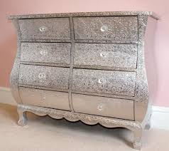 silver chest of drawers silver embossed metal chest of 8 drawers silver chest of drawers mirrored