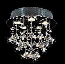 frances 5 light black chrome round ceiling triangle crystal chandelier 14 h x 14