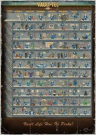 Fallout 4 Perk Chart Poster Vault Tec Ps4 Xbox One Very
