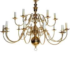 large two tier antique brass chandelier brushed made in spain