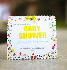 Baby Shower Invitation Cards Floral Themed Baby Shower Invitation Card Pack Of 10