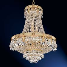 searchlight lighting 1349 50 napoleon 9 light gold plated crystal chandelier