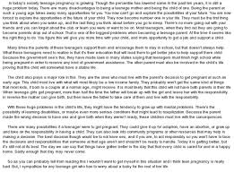 teenage pregnancy essay sample docoments ojazlink teen pregnancy essay masculinity
