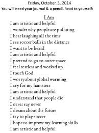 I Am Poems I Am Poem Examples For 9th Graders Hapsofcal Club