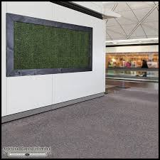 grass artificial indoor living wall 72inhx36inh w 4in frame to enlarge