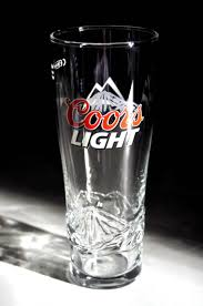 Coors Light Glass Coors Light Beer Glasses