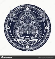 Viking Tetování Skandinávské Ozdoba Do Kruhu Viking Válečník