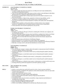 Pharmacy Tech Resume Template Lead Pharmacy Technician Resume Samples Velvet Jobs