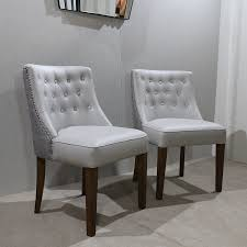 bespoke ruby on back grey faux leather dining chair