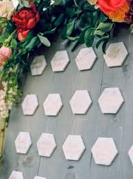 Hexagon Seating Chart Hexagon Marble Tiles For Assigned Seating Wedding Seating