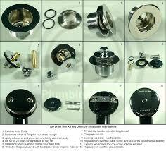 kohler bathtub stopper parts bathtub drain repair complete tub drain trim kits kohler bathtub drain stopper