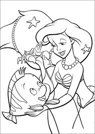 Small Picture Ariel The Little Mermaid Coloring Pages Free Coloring Home