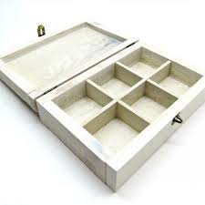 whitewashed reclaimed wooden jewelry box with aged hardware small storage box with sections divided
