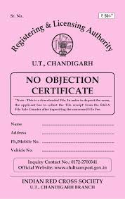 Has No Objection Best No Objection Certificate For Old Vehicles In Chandigarh