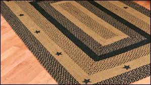 primitive braided rugs luxury black star country primitive jute braided area rug casual