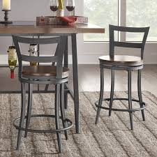 bar height swivel stools. Wonderful Swivel Thompson Counter Height Swivel Stools Set Of 2 By INSPIRE Q Classic Intended Bar T