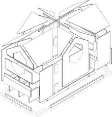 Astounding Cathouse Plans Exploded View of Cathouse