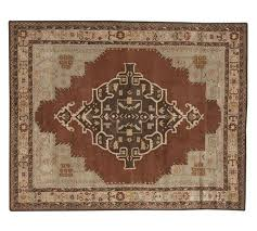 magic pottery barn rugs misa persian style wool rug 5 x 8 new authentic