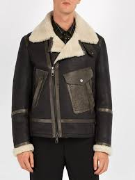 neil barrett shearling leather jacket