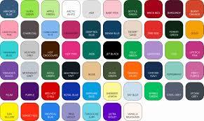 Hoodie Colour Chart Wessex Custom Clothing Popular Hoodies Zoodies