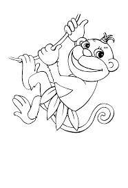 Cute Baby Monkey Coloring Pages Get Coloring Pages