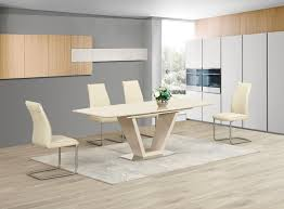 cream furniture living room.  Room Extending Cream Glass High Gloss Dining Table And 6 Chairs Set  Inside Furniture Living Room N