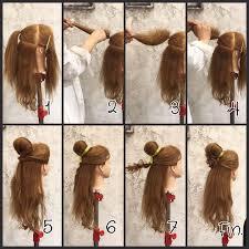 ディズニーの髪型21選ヘアバンドの付け方や崩れないヘアアレンジは