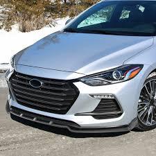 2018 hyundai elantra aftermarket headlights. 2017 2018 Hyundai Elantra Matte Black Polypropylene 3pc Bumper Lip Spec D Tuning