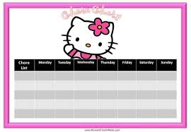 Lol Sticker Chart Chore Chart Template