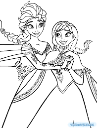 Small Picture coloring pages anna and elsa in frozen fever coloring page frozen