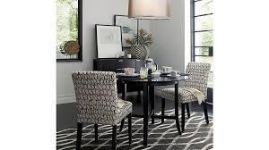 living mesmerizing round glass top dining set 43 halo ebony tables with mesmerizing round glass