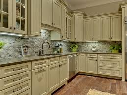 Refinished White Cabinets Amazing Refinished Green Kitchen Cabinets To White Painted Kitchen