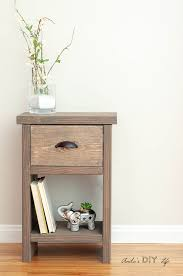 diy nightstand with one drawer and storage