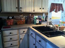 fleck stone spray painted countertops