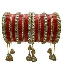 Bridal Bangle Set Designs My Design Red And Golden Lac Bridal Bangle Set Buy My