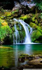 waterfall scenery ultra hd desktop