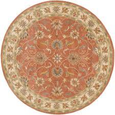 artistic weavers john rust 8 ft x 8 ft round area rug