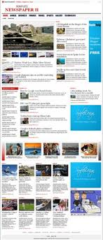 Newspaper Html Template Template1 Simplex Newspaper Ii An Advance Version Of Old