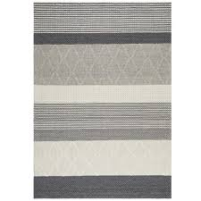 network jerrold grey hand woven flatweave wool viscose rug reviews temple webster