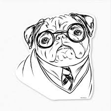 Small Picture Christmas Pug Coloring Pages Printable Pug Coloring Pages Kids