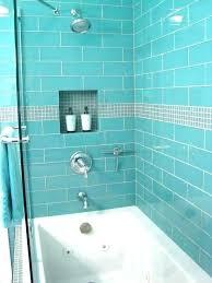 blue tile shower glass marvelous bathroom s96 shower