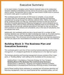 executive summary example business business plan executive summary template wikisaperi org