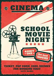 Free Movie Night Flyer Templates Movie Night Flyer 20 Design Templates For Movie Night