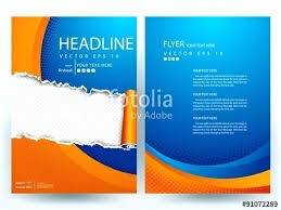 brochure front page design template abstract vector modern flyer free book cover templat