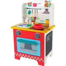 kids play wooden tabletop pretend kitchen food toy activity toddler gift set