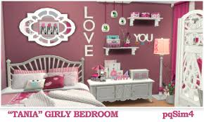 "Tania"" Girly Bedroom. Sims 4 Custom Content."